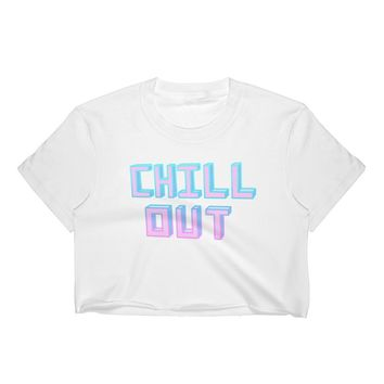 Chill Out White Crop Top