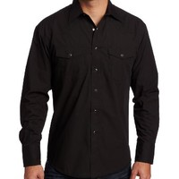 Wrangler Men's Sport Western Snap Shirt,Black,2X-Large