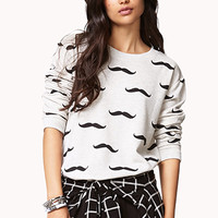 Playful Mustache Sweatshirt
