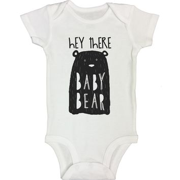 """Cute Animal Inspired Baby Bodysuit """"Hey There Baby Bear"""" RB Clothing Co"""