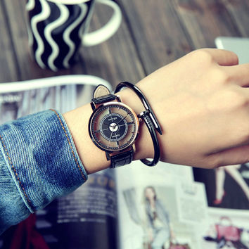 Great Deal New Arrival Good Price Gift Awesome Trendy Designer's Korean Simple Design Stylish Fashion Strong Character Watch [11668119695]