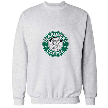 starbucks coffee sweater White Sweatshirt Crewneck Men or Women for Unisex Size with variant colour