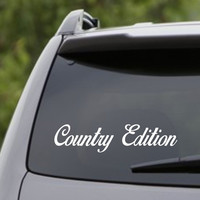 Small Version Country Edition Car Truck Window Windshield Decal Sticker