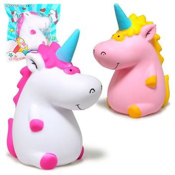 Jumbo Squishy Kawaii Cartoon Unicorn Hippo Soft Slow Rising Stretchy Squeeze Kid Toys Relieve Stress Bauble Children's Day Gifts