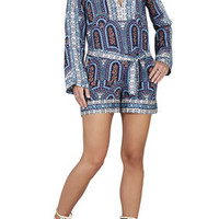 Blue BCBG Melodi Printed Relaxed-Fit Romper