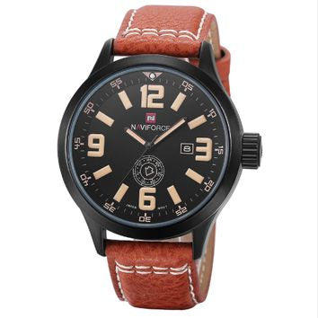 Men Sports Watches Men's  Leather Strap Military Army  FREE SHIPPING