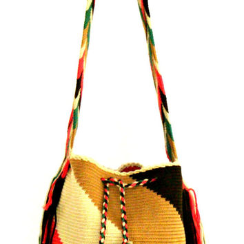 Multicolor Bag, Wayuu Bag, Boho Bag,Unisex Bag,Beach bag