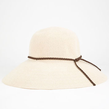 Woven Womens Floppy Hat Natural One Size For Women 25475642301