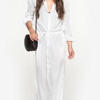 Theory Beach Caftan in White | The Dreslyn