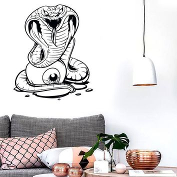 Wall Stickers Vinyl Decal Snake Cobra Eye Zombie Creepy Scary Decor  (z2145)