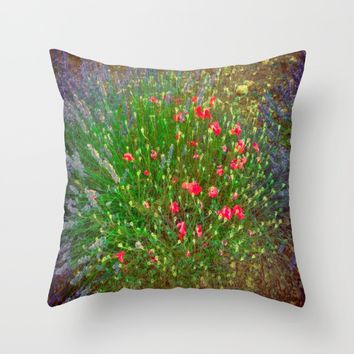 Opposites Attract Digital Watercolor Throw Pillow by Louisa Catharine Photography