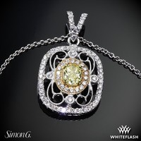 18k White Gold Simon G TP201 Duchess Diamond Pendant