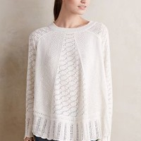 Angel of the North Nulia Circle Hem Poncho in Ivory Size: