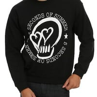 5 Seconds Of Summer Heart Skull Crew Pullover