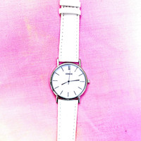 White Vegan Leather Watch