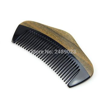 1pcs Styling Tools Pocket Portable  Nice Wooden Comb Natural Green Sandalwood Tangle Hair brush Care Accessories