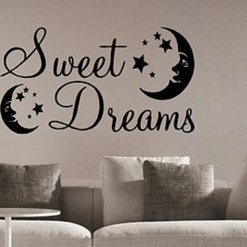 Sweet Dreams quote wall sticker quote decal wall art decor 5644
