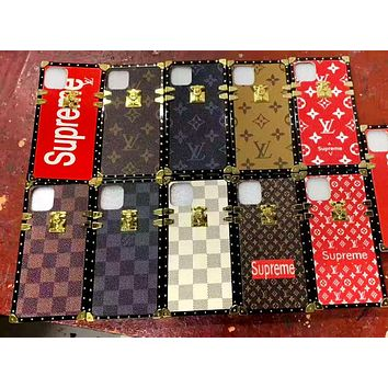 Louis vuitton x Supreme fashion hit men and women printed iPhone case
