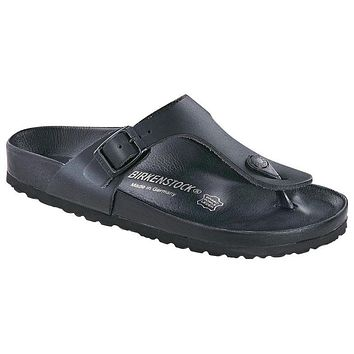 Birkenstock Gizeh Exquisite Leather Black 948071 Sandals - Best Deal Online