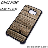 Old Dark Wood Case For Samsung Galaxy S6 Edge Case
