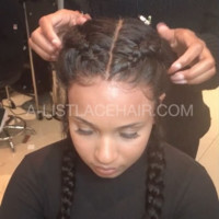 The TIFFANY - Glueless Full Lace Wig Body Wave (2 braids)