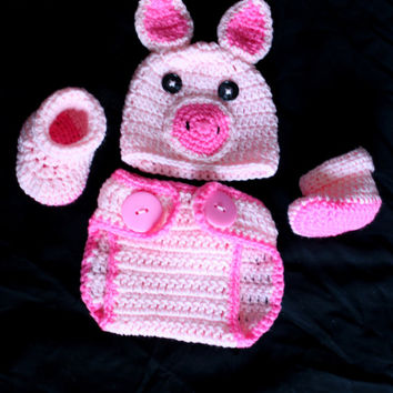Famous Crochet Pig Hat Pattern Ideas - Easy Scarf Knitting Patterns ...