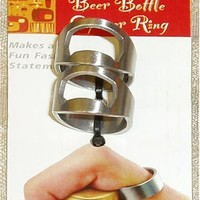Barbuzzo Bottle Opener Ring (Set of 2), Silver