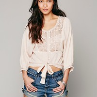 Free People Womens Some Kind of Magic Top - Washed Black,