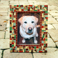 5 x 7 Mosaic Picture Frame, Earth Tones