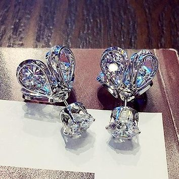 2018 New Crystal from Austrian for Women Fashion Fire Opal Earrings Wedding Birthday Gifts Party Events Fashion jewelry