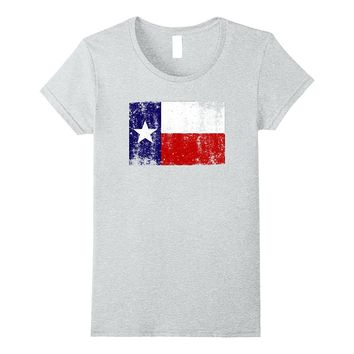 State of Texas Flag Fun Trendy Hot Summer Distressed T-Shirt