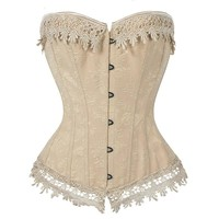 Elizabeth Sexy Victorian Style Lace Trimmed Bustier Corset Sizes  S-6XL