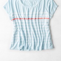 AEO Women's Soft & Sexy Graphic T-shirt (Light Blue)