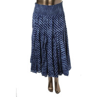 Chelsea & Theodore Womens Sheer Striped Flare Skirt