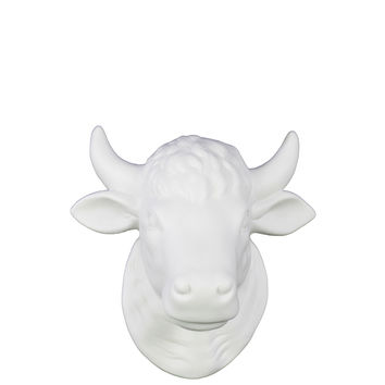 Matte White Ceramic Cattle Head wall Decor | Overstock.com Shopping - The Best Deals on Accent Pieces