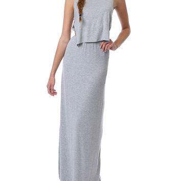 Read Your Mind Maxi Dress - Heather Gray