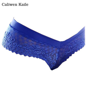 New Fashion Women Lace thong 7Colors Low Waist One Size V-string Briefs Panties Thongs G-string Lingerie Women Underwear