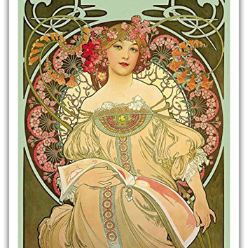 "Champagne - Art Nouveau - La Belle Époque- ""Les Maitres de l'Affiche""- Art Deco- Vintage French Advertising Poster by Alphonse Mucha c.1897 - Master Art Print - 9in x 12in"