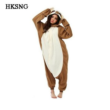HKSNG New Adult Unisex Winter Animal Sloth Pajamas Kigurumi Onesuits Zootopia Folivora Cosplay Costumes Homewear Pyjamas