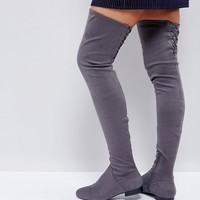 ASOS KASBA Flat Over The Knee Boots at asos.com