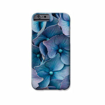 iPhone 5/5S, 5C & 4/4S Case with a Custom Blue Hydrangeas Fine Art Photography Print.