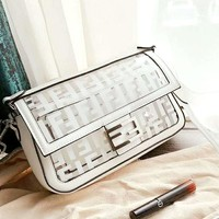 Fendi new tide brand female models transparent shoulder bag high quality postman bag diagonal female bag