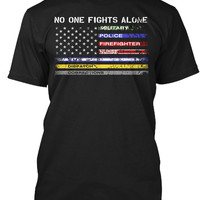 American Flag No One Fights Alone Shirt