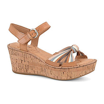 Born Skye Wedge Sandals - Natural/Multi