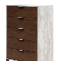 Nova Domus Conner Modern Dark Walnut & Concrete Chest