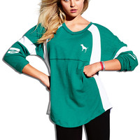 Pieced Varsity Crew - PINK - Victoria's Secret