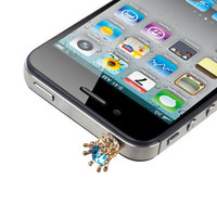 Dust Cap Plug (3.5mm) for iPhone, Galaxy, Smartphones - Crown (213)