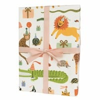 Party Animals Wrapping Sheets - Roll