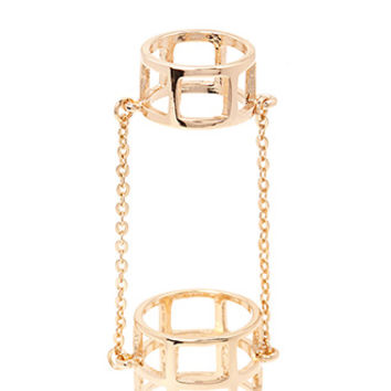 FOREVER 21 Chained Cutout Ring