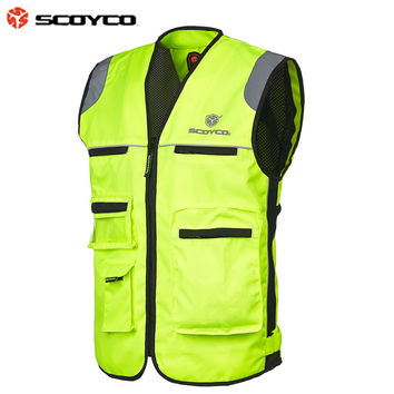 Moto racing Jacket reflective clothing made of Polyester fiber